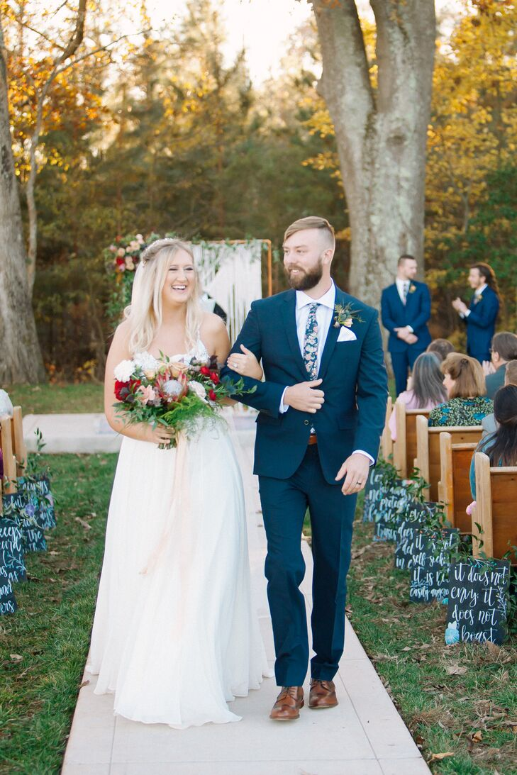 Bohemian Ceremony Recessional at Circle M Farm Events