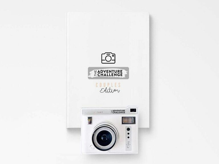 The Adventure Challenge Couples Edition book and camera