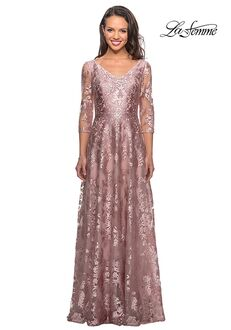 La Femme Evening 27861 Pink Mother Of The Bride Dress