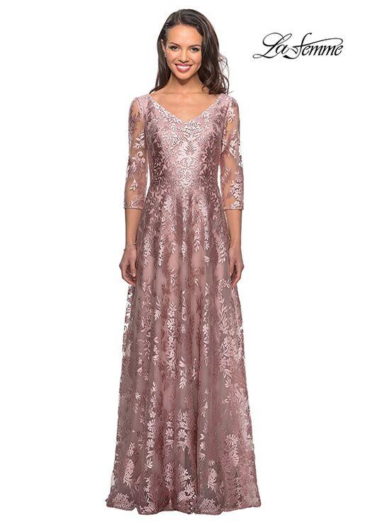 La Femme Evening 27861 Pink Mother Of The Bride Dress