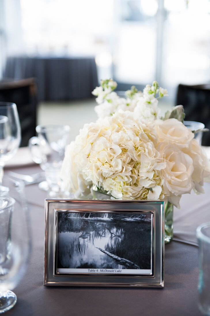 """""""We've always loved the photographs of Ansel Adams, and the way he captured where we grew up,"""" Marla says. """"We used framed photographs by Adams to mark each table."""""""