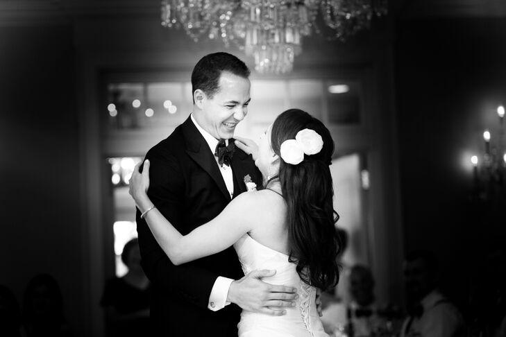 """""""I totally botched one of our dance moves for our first dance,"""" Caitlin says. """"We just started laughing in the middle of it and kept having fun. We just went with the flow that day and weren't stressed in the slightest."""""""