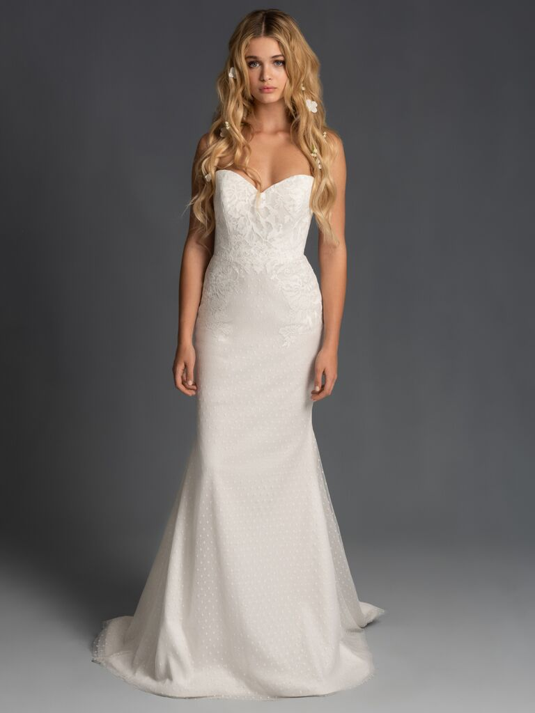 Blush by Hayley Paige Fall 2019 strapless lace wedding dress
