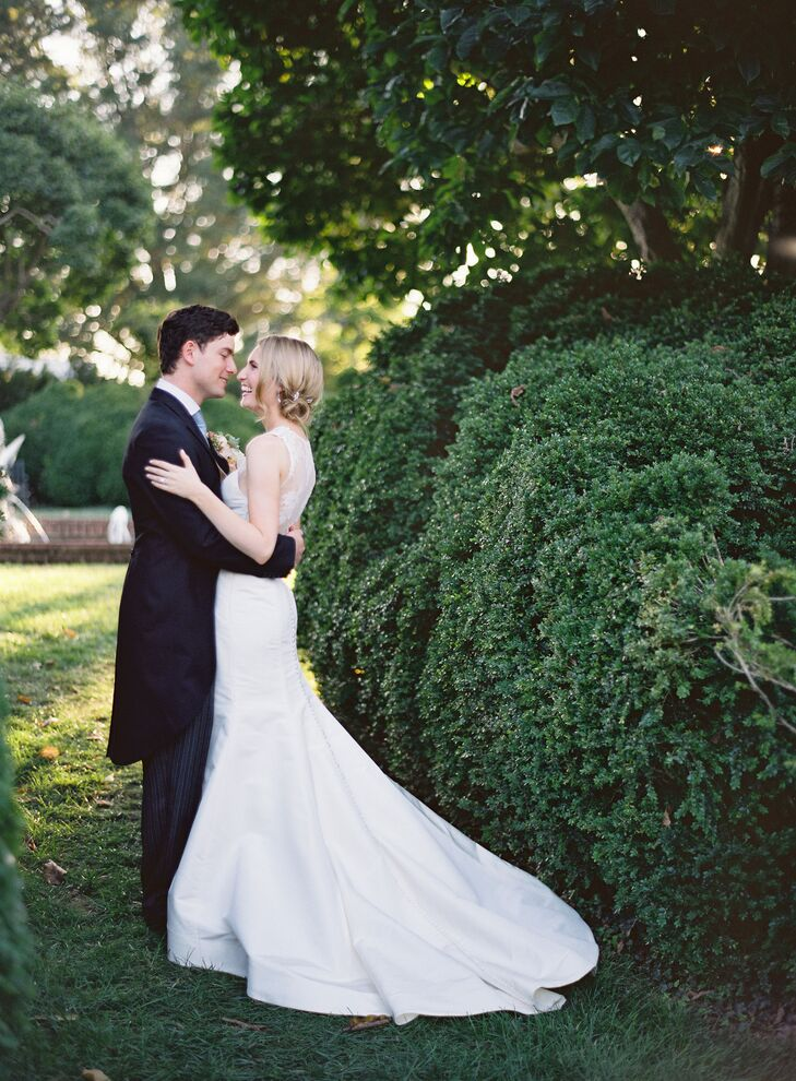 White Carolina Herrera Wedding Dress