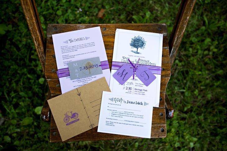 Purple and White Invitation Suite