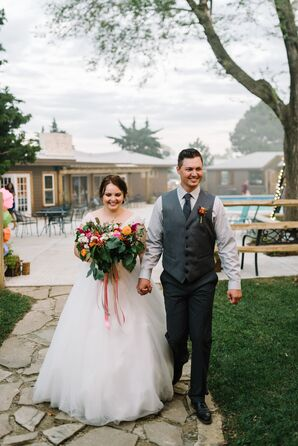 Groom's Gray Vest, Tie and Dress Pants