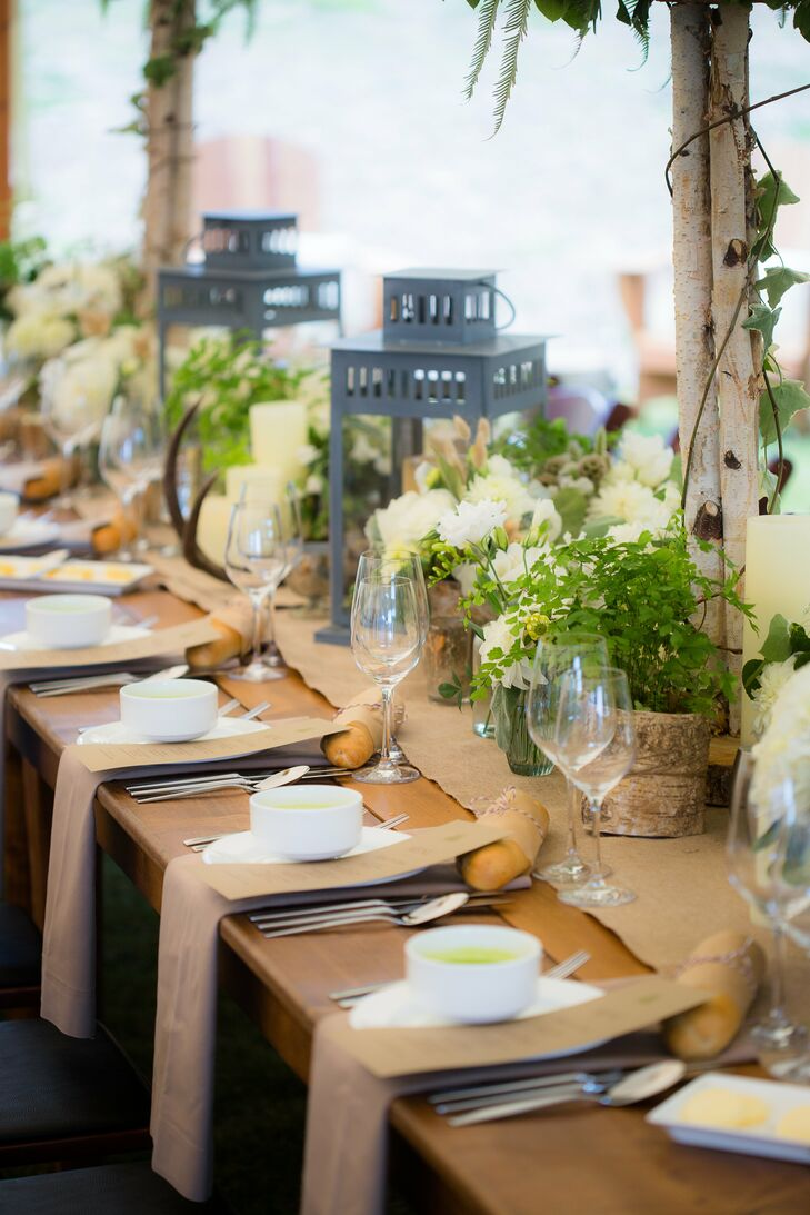 Rustic Reception Table Decor