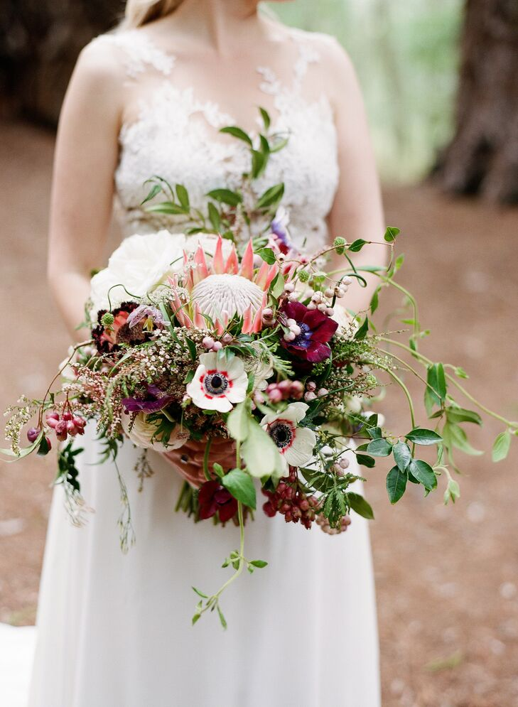 King Protea and Poppy Bouquet