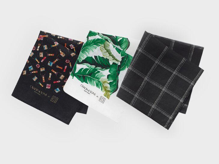three pocket squares