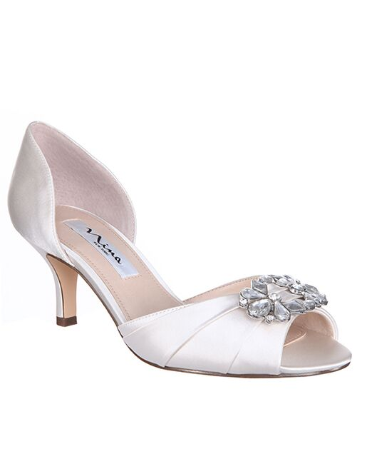 Nina Bridal Charisa_Ivory-Satin Black, Blue, Silver, Champagne Shoe