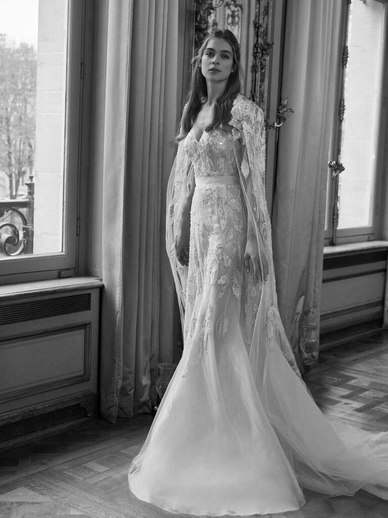 19446d78015 Elie Saab Spring 2019 strapless beaded sheath wedding dress with belt