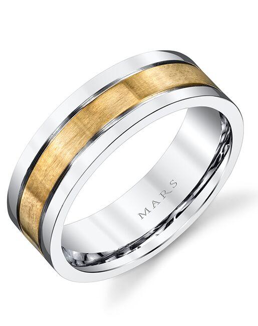 MARS Fine Jewelry MARS Jewelry G103 Men's Band Gold, White Gold Wedding Ring
