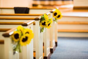 Sunflower Aisle Markers