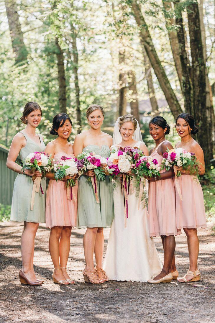 74a0bf0f7b6 Pastel J.Crew Bridesmaid Dresses