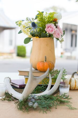 DIY Butternut Squash Flower Vases