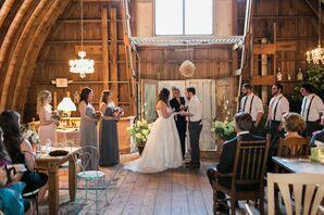 Sarah and Tim Wedding Ceremony at Rubies and Rust Barn