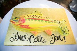 Fish-Inspired Groom's Cake