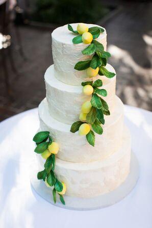 Sugar Lemon-Accented Wedding Cake