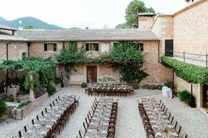 Long Tables for Wedding Reception at Finca Es Cabas in Mallorca, Spain