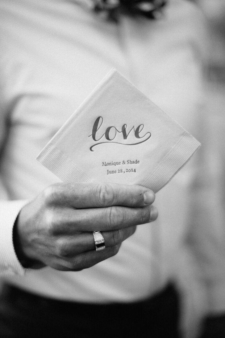 'Love' Personalized Square Napkins