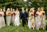 Breanna Norton and Alex Wise's wedding drew inspiration from their venue's mid-century modern design and classic minimalism. This theme began with the