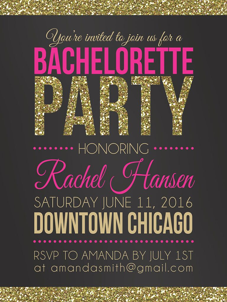 photo regarding Free Printable Bachelorette Party Invitations named 14 Printable Bachelorette Bash Invitation Templates