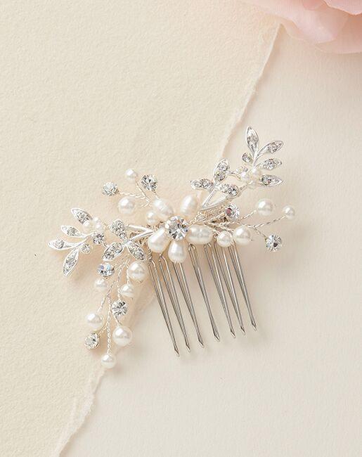Dareth Colburn Floral Freshwater Pearl Comb (TC-2330) Silver Pins, Combs + Clip