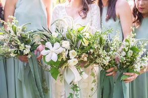 Wild Wildflower, Stock and Delphinium Bouquets