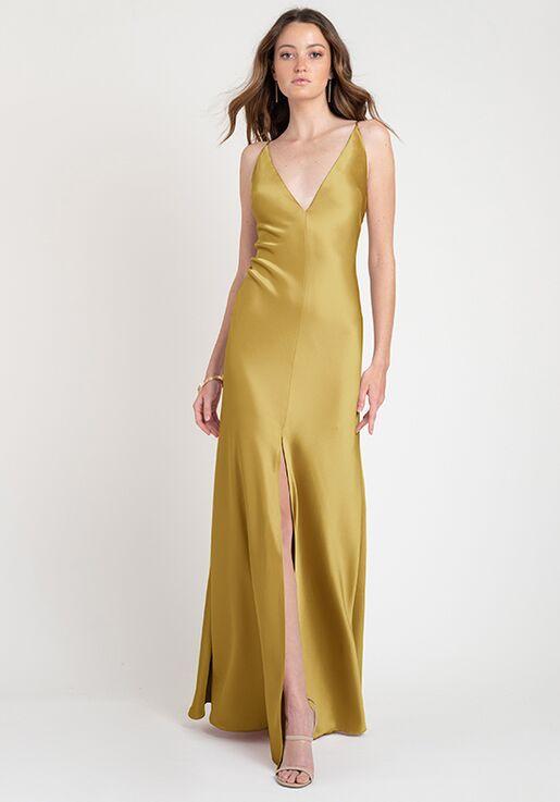 Jenny Yoo Collection (Maids) Ida V-Neck Bridesmaid Dress