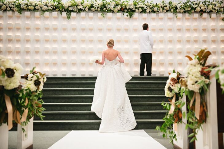The wedding of Kelly Wynne Ferguson (27 and the founder/designer at Kelly Wynne) and Walt Ferguson (27 and an assistant project manager) was filled wi