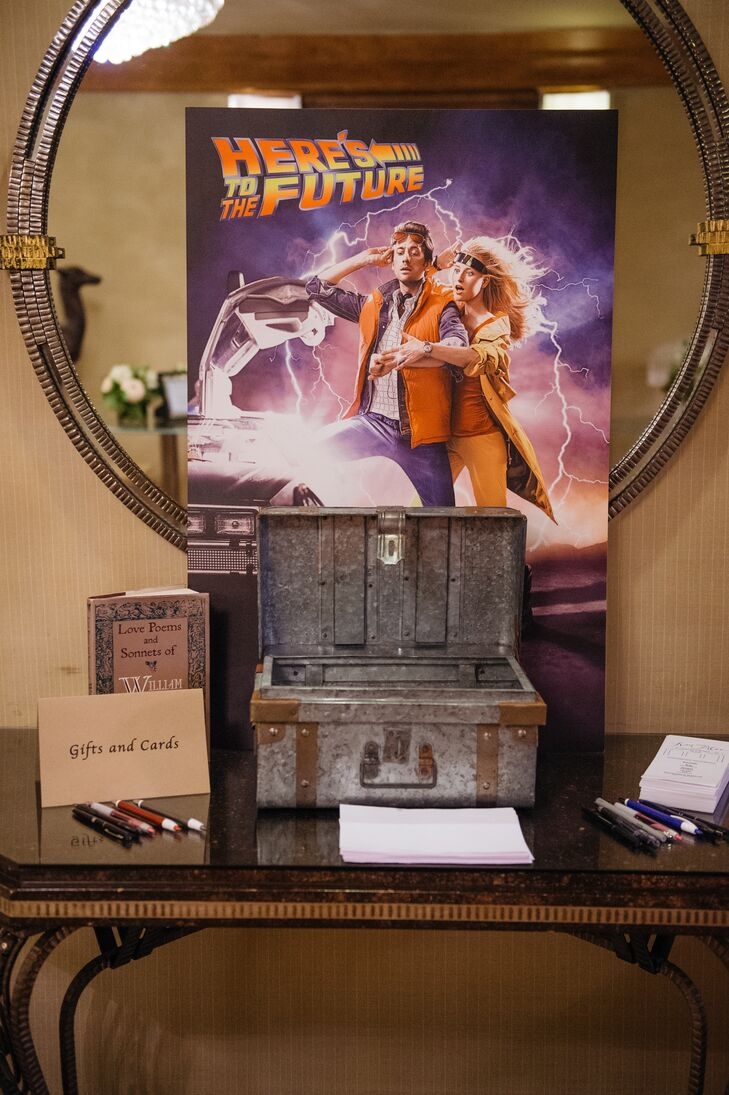 """Back to the Future"" Engagement Shoot Decor"
