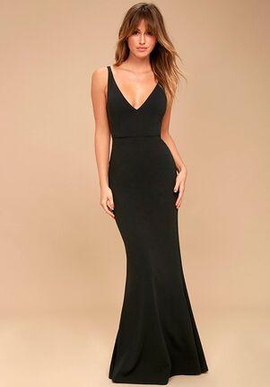 Lulus Melora Black Sleeveless Maxi Dress V-Neck Bridesmaid Dress