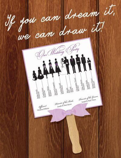 Mr And Mrs Wedding Art - Custom Wedding Programs