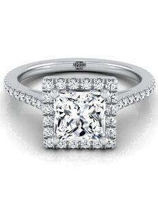 RockHer Classic Princess Cut Engagement Ring