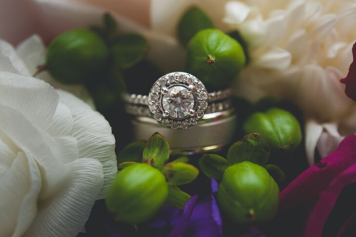 Silver Ivory Traditional Wedding Rings