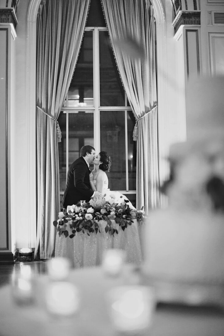 The best advice I can give is to remember what the wedding is really about, says Emily. As much as I obsessed and went overboard on the decorations, flowers, dresses and all of those material details, the only thing I remember about that day was how happy I was with my new husband.