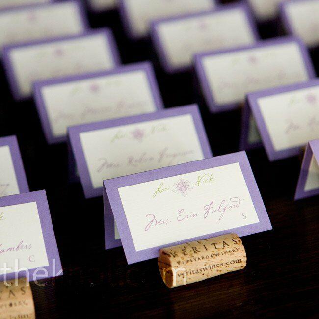 Real Weddings Cork: Wine Cork Escort Cards