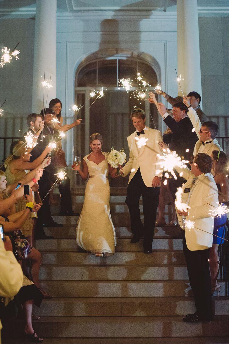 Sheath White Wedding Dress With Champagne Belt