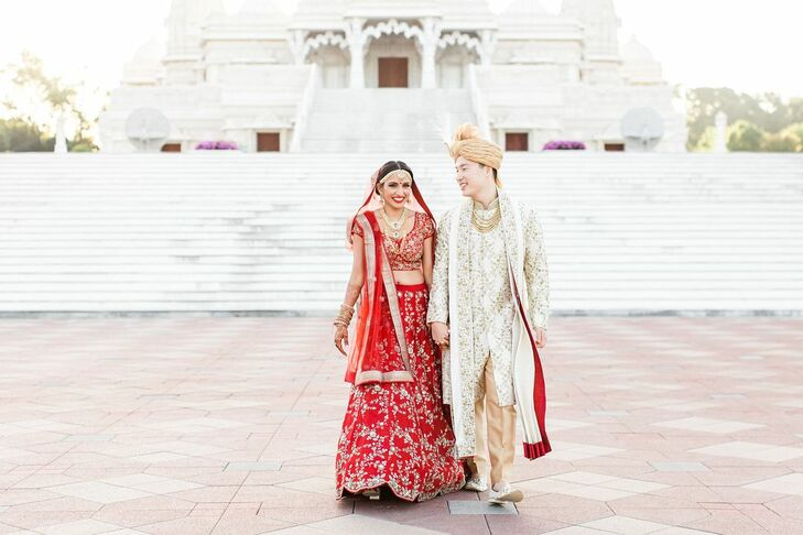 """Nirali and Ray Koh had a two-part wedding that featured their different cultures. """"We wanted to have a day that celebrates not only us as a couple, bu"""