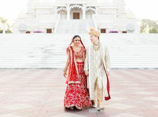 "Nirali and Ray Koh had a two-part wedding that featured their different cultures. ""We wanted to have a day that celebrates not only us as a couple, bu"