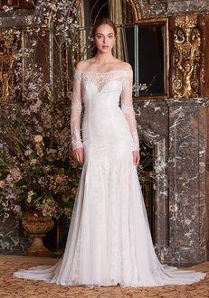 Monique Lhuillier Grey Mermaid Wedding Dress