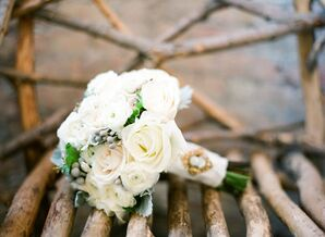 White Rose and Ranunculus Bouquet