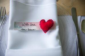 Felt Heart Wedding Favor