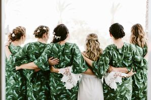 Green Bridesmaid Cover-Ups