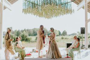 Outdoor Indian Wedding Ceremony at Parrish Art Museum