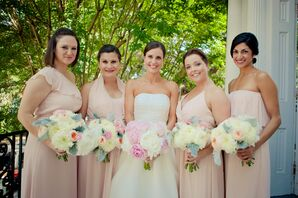 Pale Pink Joanna August Mixed Bridesmaid Dresses