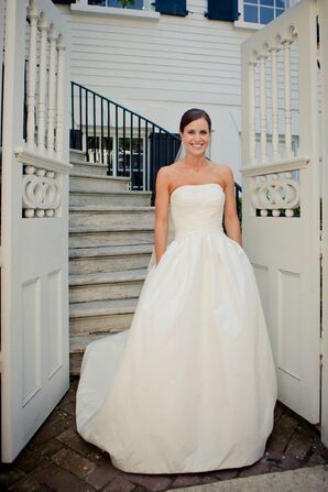 Sophisticated Strapless Modified Ball Gown