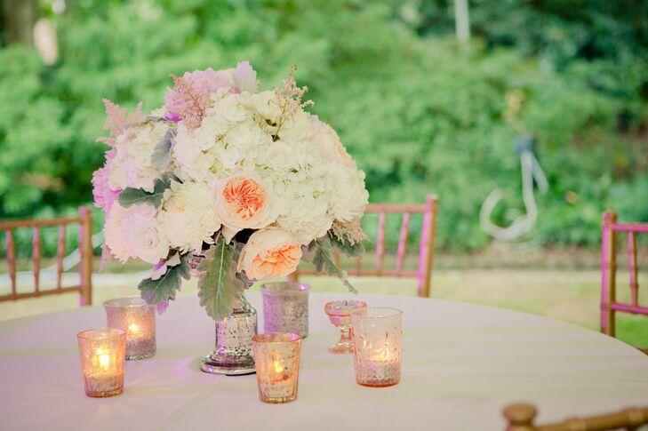 Romantic Pink Peony Centerpiece