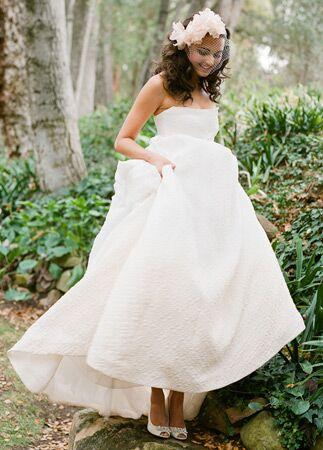 Monique Lhuillier wedding gown | Jose Villa | blog.theknot.com