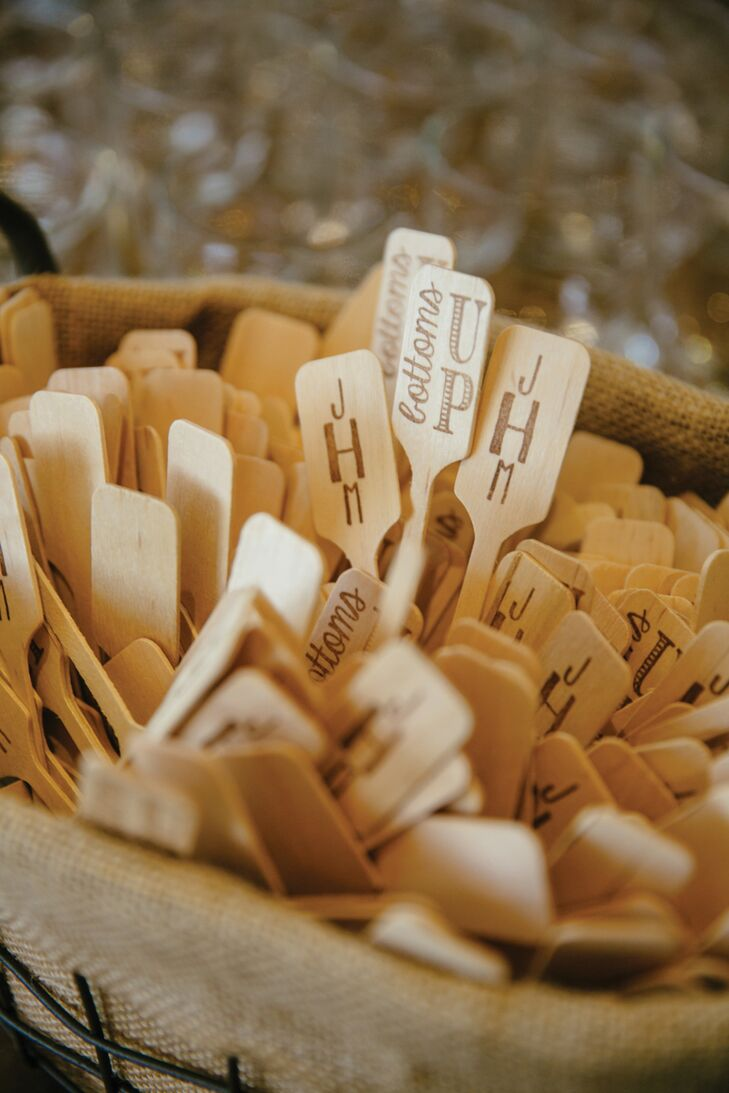 Personalised Wooden Cocktail Drink Stirrers